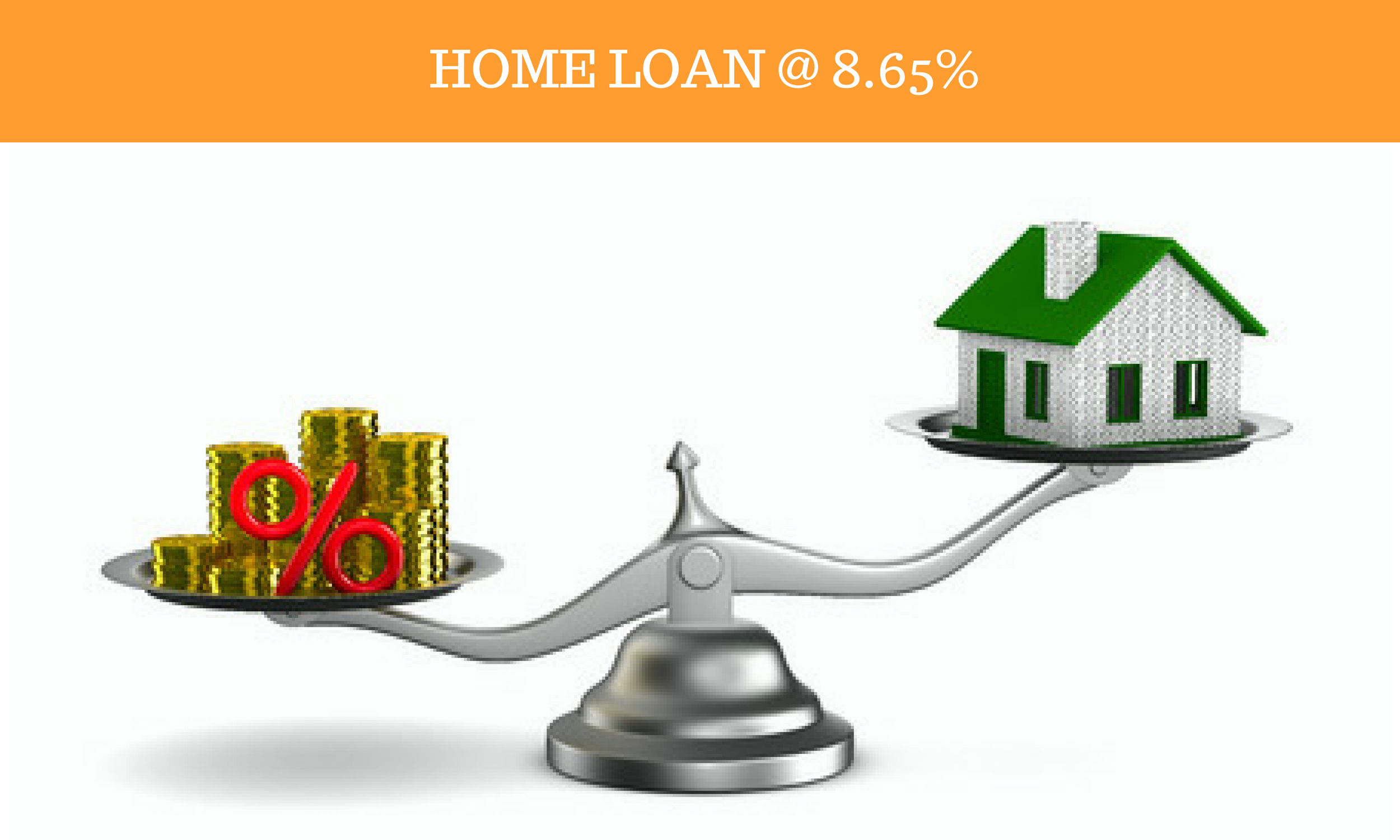 Home Loan Rate - 8.30% (1st year variable). Processing FEES - NIL. Prevalent interest rate for remaining tenure. *