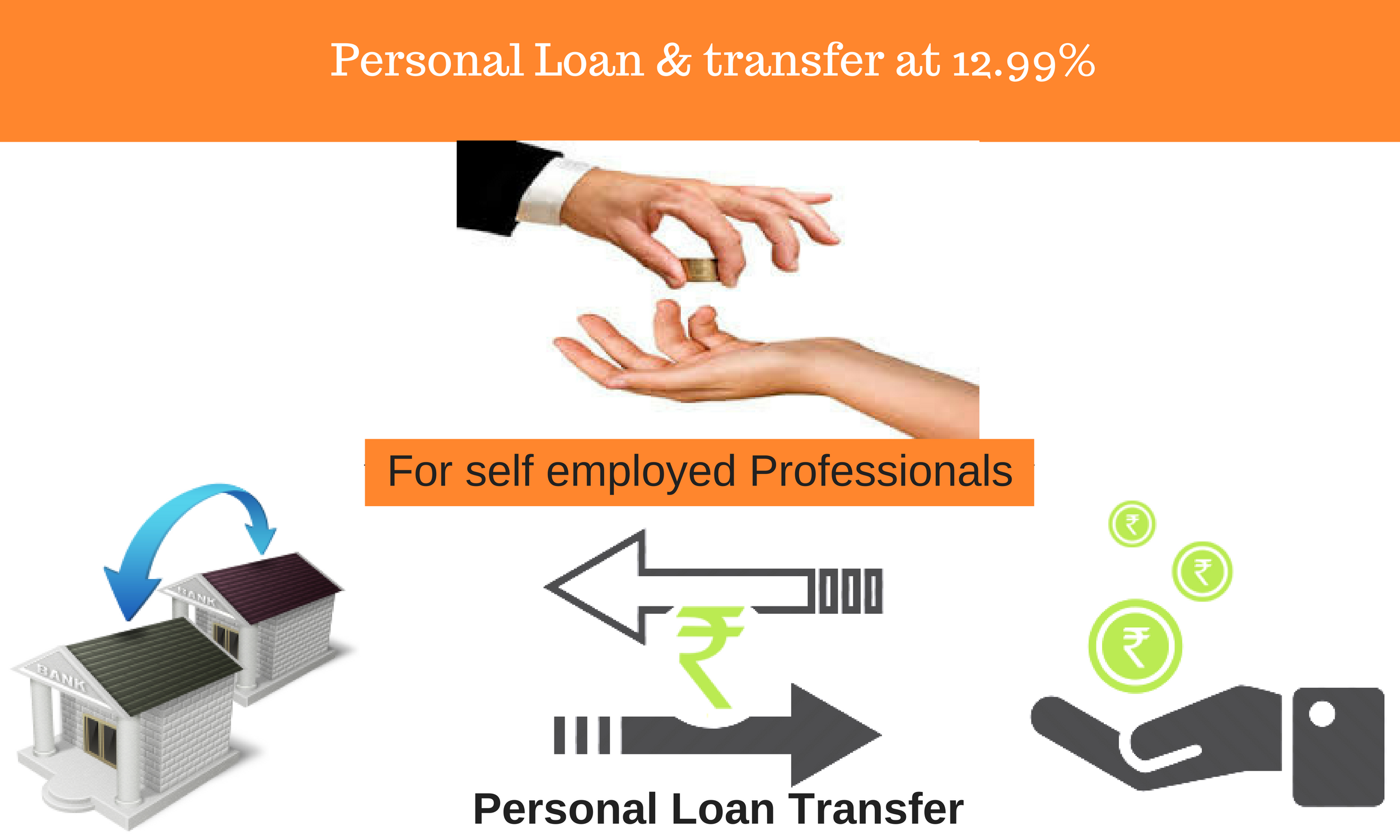 PL &PL transfer at 12.99% for Self Employed Professionals